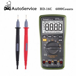 Portabl Präzisions-Digital-Multimeter 6000 Counts True RMS Auto Range DC AC Widerstand Kapazität Temperaturdiode TesterBD 16C Auto G6bG #