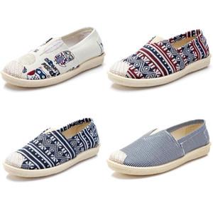 2020 no marca zapatos de las mujeres Zapatos Alpargatas deslizamiento en los planos de los zapatos de lona holgazanes ocasionales las zapatillas de deporte 35-40 Multiclticolors Estilo 3a81a #