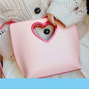 Small C Love Bag K Singapore Shop Limited Women's Bag High Quality Fashion Ladies Hollow Out Love Handbag Girl Casual Shopping B
