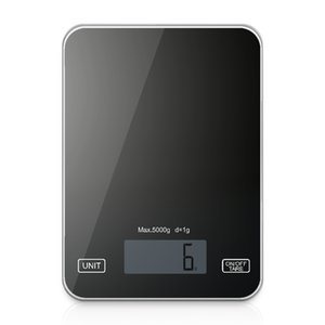 Digital Kitchen Scale Food Scale 11lbs 5kg - Ultra Slim, Multifunction,Tempered Glass Easy To Clean, Large Display Press Profess