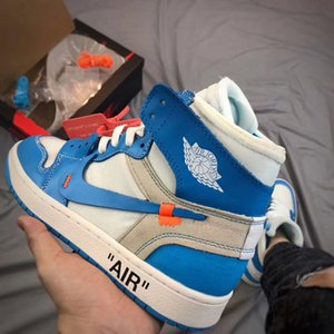 Òff Whìte Nikè Air Jòrdàn 1 Luxury ÀJ1 Designer Hommes Basketball Parra Retro 85 Ceeze Slipper Chicago Brown White Red Sneakers Men Shoes
