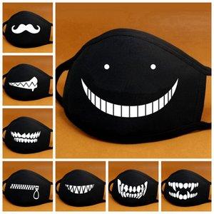 Cartoon Coton Masque bouche noire anti-poussière Anti Pollution Masque Respiratoire Mode Ours Mignon Kpop Masques Bouche Visage animaux RRA3194