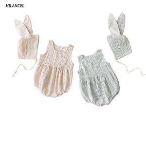 MILANCEL 2019 летние детские боди милый кролик стиль новорожденных девочек боди без рукавов малыша мальчиков одежда