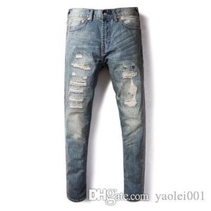 Mens Designer Fashion Luxury Jeans Trends Hot Japanese Vintage Old High Elastic Slim Feet Denim Pants