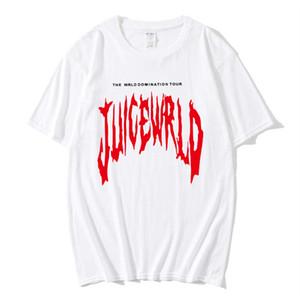 "Juice Rapper WRLD Emo armadilha Song ""Lucid Dreams"" print Hip hop T-shirt Mulheres / Vestuário Hot Sale tops de manga curta camiseta"