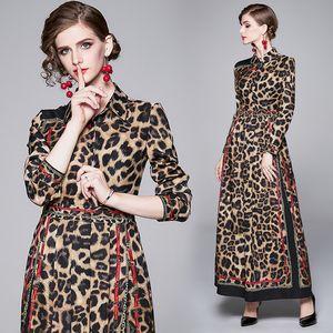 High-end Womens Dress Long Sleeve Printed Prom Evening Long Dress Spring Autumn Maxi Dress Fashion Noble Lady Dresses