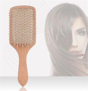 Деревянный гребень профессиональный здоровый весло подушка выпадение волос массажная щетка расческа гребень уход за волосами головы здоровый бамбуковый гребень