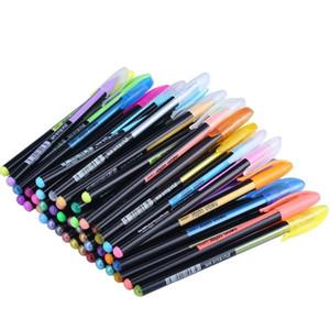 48 Cores Gel Canetas Set, Caneta Gel Glitter para Colorir Adultos Revistas Desenho Doodling Art Markers