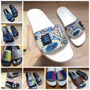 flip flops WATERFRONT MULE Womens lussuoso casuale diapositive Estate ampio appartamento in PVC progettista del mens scarpe di moda prisma Sandals Slipper