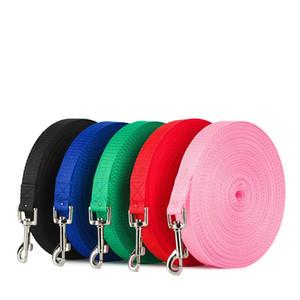Trelas de nylon de imitação para cães grandes longos grandes animais de estimação corda de treinamento cor sólida suprimentos para animais de estimação ao ar livre 4 tamanho 26RY E1