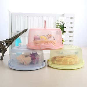 Plastic Round Cake Box Pastry Storage Boxes Dessert Container Cover Case For Birthday Wedding Party Kitchen