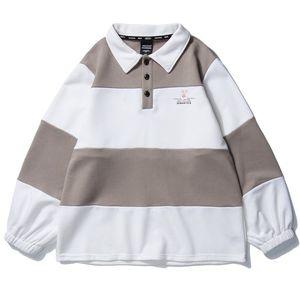 2020 Hombres de Hip Hop con capucha suéter rayado retro de Harajuku Pullover Streetwear algodón con capucha otoño de apertura de cama tapas con capucha