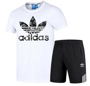 Los diseñadores de moda chándal de los hombres de lujo chándales 2020 Mens del verano Marca del basculador de los trajes de la camiseta + pantalones Conjuntos deportivos Traje de alta calidad Nueva