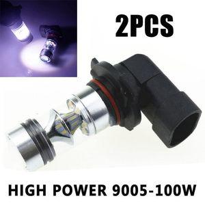 1 пара 9005 HB3 9145 H10 100 Вт светодиодные противотуманные фары 6000K Белый высокая яркость дальнего света лампы для освещения автомобиля