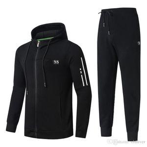 Mens Designer Trainingsanzüge Herbst und Winter Hohe Qualität Herren Baumwolle Komfortable Schlank Kapuzenjacke Zweiteiler