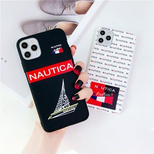 New fashion phone case for iphone 11 Pro Max 7 8 XS XR xs max soft silicone simple letter branded style cellphone case free shipping