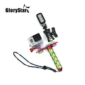 GloryStar 10 In1 Set Portable CNC Handheld Self Shot Tripod Mount Ball Clamp for Gopro 4 3plus 3 Camera Lighting Diving Outdoor