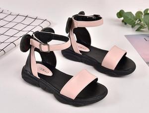 Designer Chaussures Enfants Sandales Pour Bébés Filles Noir Blanc Plage Toddler Chaussures enfants Chaussures Sandales Taille 26-36