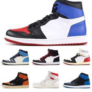 Plus récent venant Cdg X 1 Collab Boucle bretelles Pull Bague Hommes Femmes Chaussures de basket-1S Jumpman Des Garcons de sport Chaussures de sport # 201