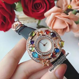 Дешевые Для высокого качества ювелирных изделий Astrale 102011 AEP36D2CWL белый циферблат розовое золото Алмазный диск Швейцарский Кварц Женская мода Luxry Lady часы