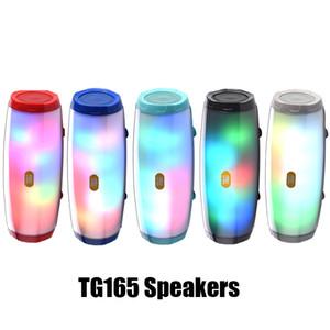 TG165 블루투스 스피커 플래시 휴대용 오디오 플레이어 스테레오 사운드 하이파이 서브 우퍼 깊은 저음 스피커 1200MAH 뮤직 박스를 LED