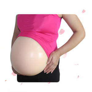 embarazada de silicona artificial del vientre de la jalea de la panza parte trasera adhesiva vientre falso con certificación de la FDA OEM disponible modeladoras del cuerpo