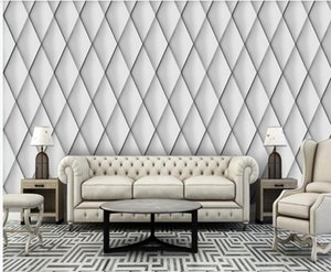 Custom wallpapers 3d stereoscopic wallpaper Modern minimalist 3D stereo soft package mural TV background wall