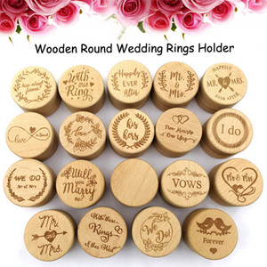 Boda de madera de la caja del anillo anillo rústico Usted me casará Nos caso de almacenamiento de caja Do Sr Sra Anillo Pendientes Collar de contenedores