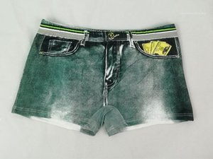 مصمم رجالي الملاكمين الدولار مطبوعة جيب الملابس الداخلية الصيف نمط رجل صالح السروال ذكر الملابس تنفس