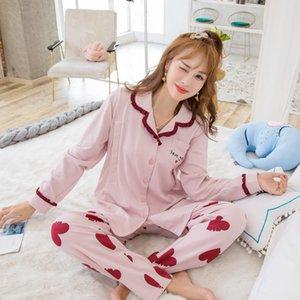 In stato di gravidanza che le cose puro cotone nuovo stile di autunno confinamento maniche lunghe abbigliamento Cardigan pasta di fagioli Cuore infermieristica pigiama S