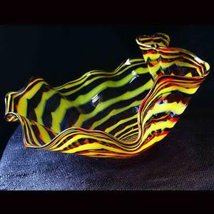 2020 Murano Glass Hanging wall art Dale Chihuly Style Borosilicate Glass Art Hand Blowed Flower wall lamps