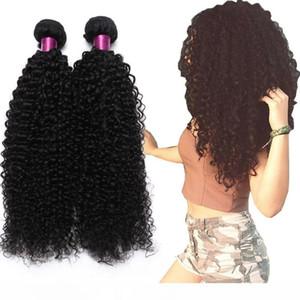 H Brésilien Kinky Curly droite vague de corps en vrac Vague vague profonde Vierge Cheveux Trames naturel Noir Brésilien Curly Vierge Cheveux Exten
