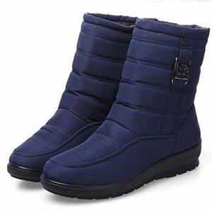 Winter Women Ankle Boots 2020 Plus Size Waterproof Flexible Plush Warm Snow Boots Zipper Botas Women Shoes