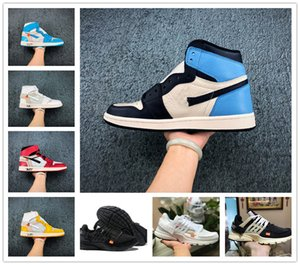 Продажа 2020 Новый 1 High OG Чикаго Баскетбол обувь Дешевые Retroes Бред UNC Красный зеленый Toe Мужчины Женщины Presto V2 Trainer Дизайнерская спортивная обувь