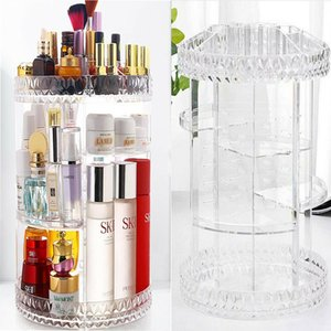 2019 новый женский макияж организатор 360-градусный вращающийся косметический держатель для хранения витрина творческий макияж коробки для хранения