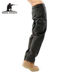 MEGE Unisex Sonbahar Kış Pantolon, Taktik Köpekbalığı Cilt Yumuşak 14 Renkler Askeri Ordu Su Termal Kamuflaj Polar Pantolonlar T191223 itici de