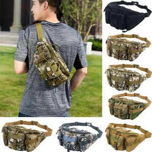 Mens Tactical cintura sacos Camouflage Peito Bolsa Unisex Militar cintura sacos Homens Moda barriga pacote portátil ombro saco