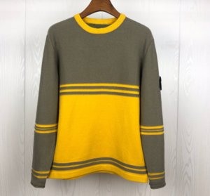 19FW новое прибытие Марка Мужские свитера дизайнер роскошный пуловер полосатый дизайн Casaul толстая толстовка теплый толстый вязание толстовки X B103455L
