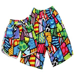 MISSKY 2 pçs / set Amantes Shorts Praia Swimwear 2019 Homens Mulheres Board Curto Mulheres Conjuntos de Biquíni De Secagem Rápida Swim Shorts Swimsuit