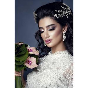 Lusso Diademi e corone HADIYANA New Fashion Wedding Accessori per capelli Elegante per le donne zircone BC4860 Accessori Mujer