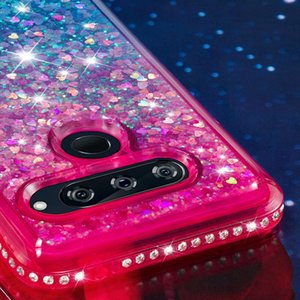 Liquid Diamond Étui souple en TPU Pour LG X Power 3 V40 K8 2018 Stylo 4 Google Pixel 3 XL Placage Gradient Bling Couverture de luxe chromée Quicksand