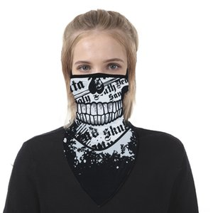 XNajZ FancyQube Face Scarf Mask Variety Turban Magic Scarves New Skull Headband Mesh Neck Bandanas