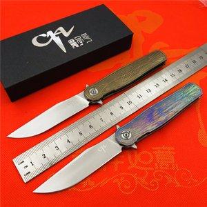 CH 3505 katlanır bıçak seramik rulmanlar s35vn çelik TC4 titanyum kolu açık kamp avcılık cep meyve bıçağı EDC araçları