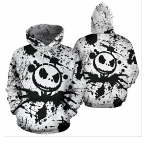 Nightmare Before Christmas Hoodie 3D-Druck SweatshirtsHoodies Cosplay Sally Jack Skellington Sankt Reißverschluss-Jacken-Mantel