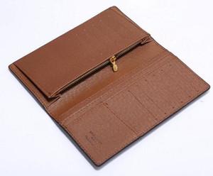 Brazza КОШЕЛЬКА Стильная мужская куртка Длинный кошелек в коричневый Водонепроницаемый Клетчатый Canvas для проведения замены Примечания кредитных карт нет коробки