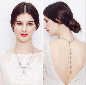 EA Горячие продажи 2020 Bride Назад Сеть Перл Подвеска Тенденция моды ожерелье Люкс Свадебные аксессуары Подарочные