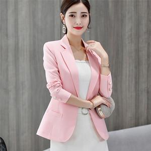 Femmes OL Costume Professionnel Slim Fit Lapel Neck One Button Blazer Famale Costume couleur solide