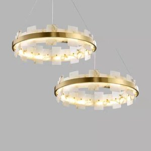 Moderna Marmo Rame Luxury Gold LED Lampadario casa Hotel Art lampada della decorazione di illuminazione a sospensione PA0620 Luce