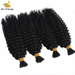 3 Bundles Deal Kinky Curly Bulk Hair for Braiding No Weft Brading Hair Bulk for Seamless Crystal Line Hair Extension