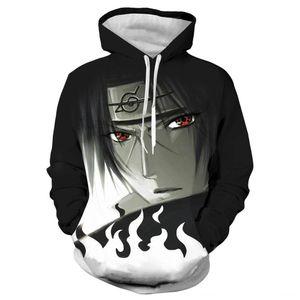 Anime Naruto Menwomen 3D Hoodies Sweatshirt Fashion Sasuke Kakashi Cartoon Casual Harajuku Hoody Autumn Thin Coat (Men's Hoodies & Sweatshir